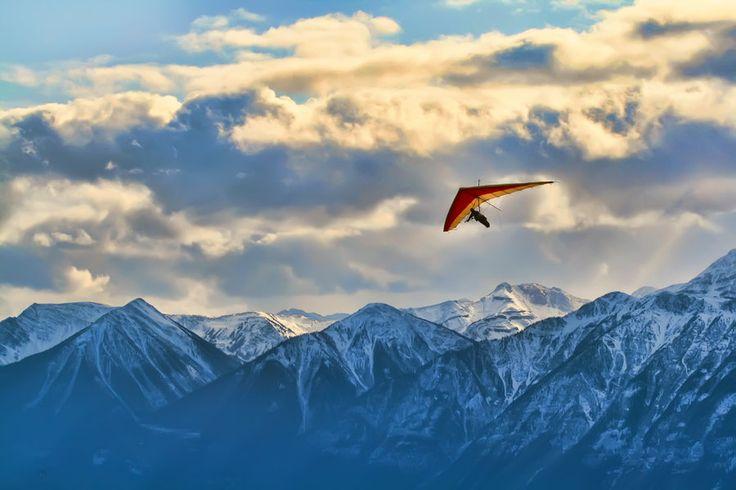 Hang Glider Over Golden by skip2000.deviantart.com on @deviantART