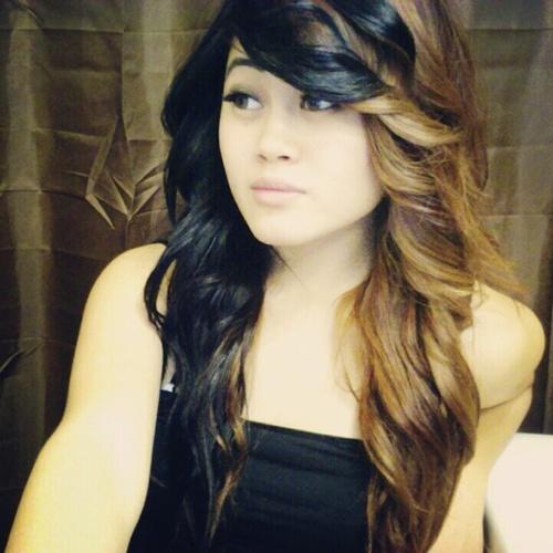 Half Black Half Light Brown To Dark Blonde Hair