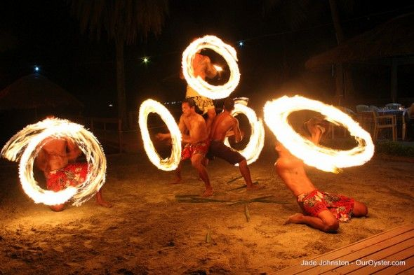Fire spinning and dancing is a major component of the local culture in fiji