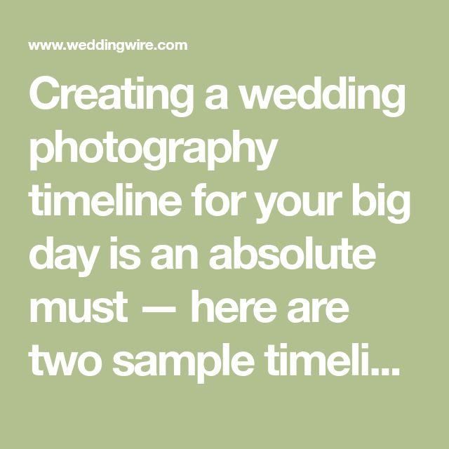 Creating a wedding photography timeline for your big day is an absolute must — here are two sample timelines PLUS expert advice on how to create your own.