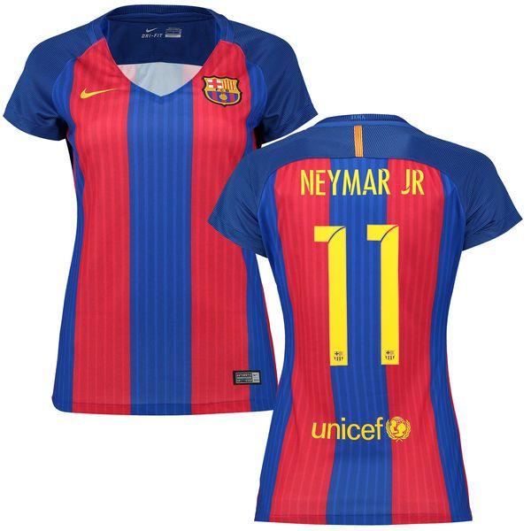 Neymar Santos Barcelona Nike Women's 2016/17 Home Replica Jersey - $94.99