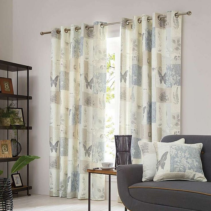 Botanist natural lined eyelet curtains dunelm living room possibly pinterest natural for Lined valances for living room
