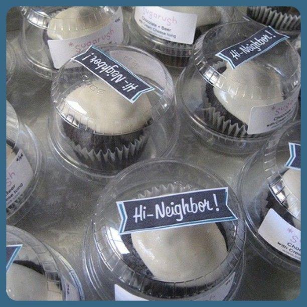 Sugarushtruck's Chocolate Cupcakes with Cream Cheese icing. Made with Gansett Bock beer. Yum!