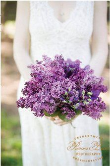 Purple Lilac Wedding Bouquet... another beautiful one <3