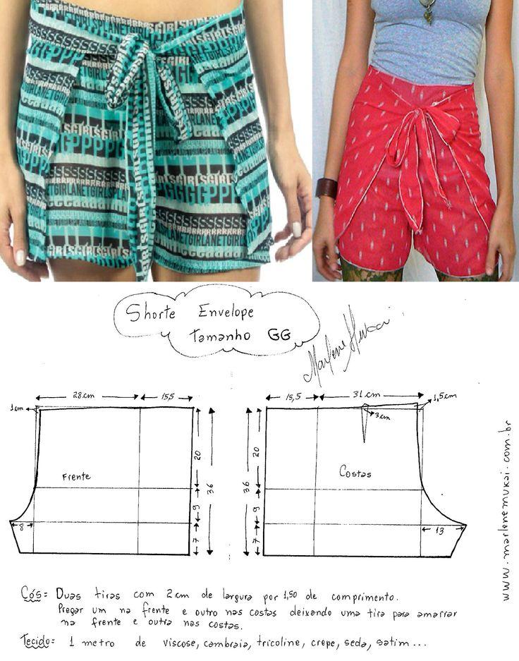 short GG (XL) другие размеры здесь http://www.marlenemukai.com.br/2015/01/20/short-envelope/