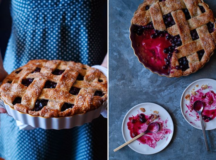 Molly's blueberry pie with cornmeal crust