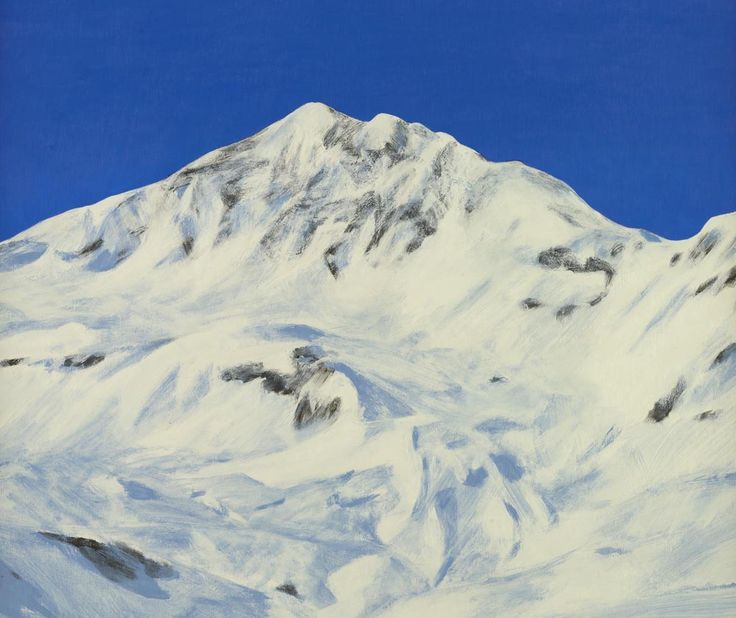 If you are missing the views from the top of the piste already, Moritz Baumann's 'Pointe de la Sana' might help.   'Pointe de la Sana' by Moritz Baumann, Acrylic on Board: 42 x 53 cm Signed