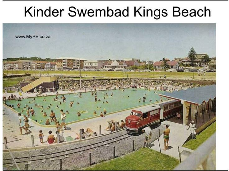 the old Kings Beach swimming pools and small smartie-train - also gone now replaced with a parking lot and lawned area - Port Elizabeth