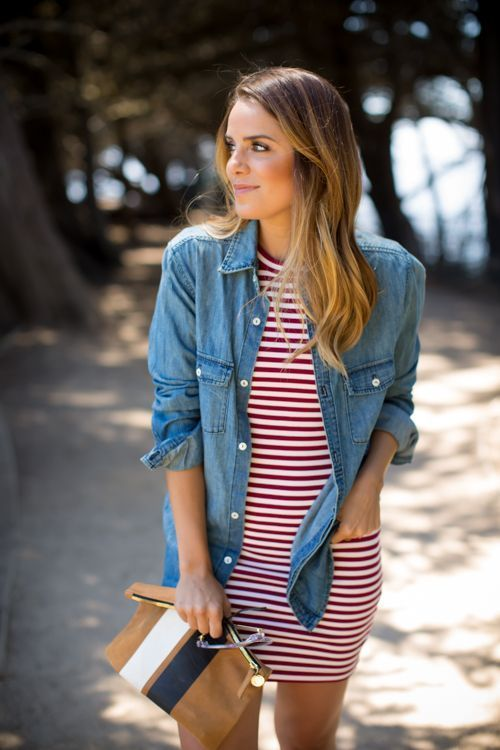 red stripes + denim