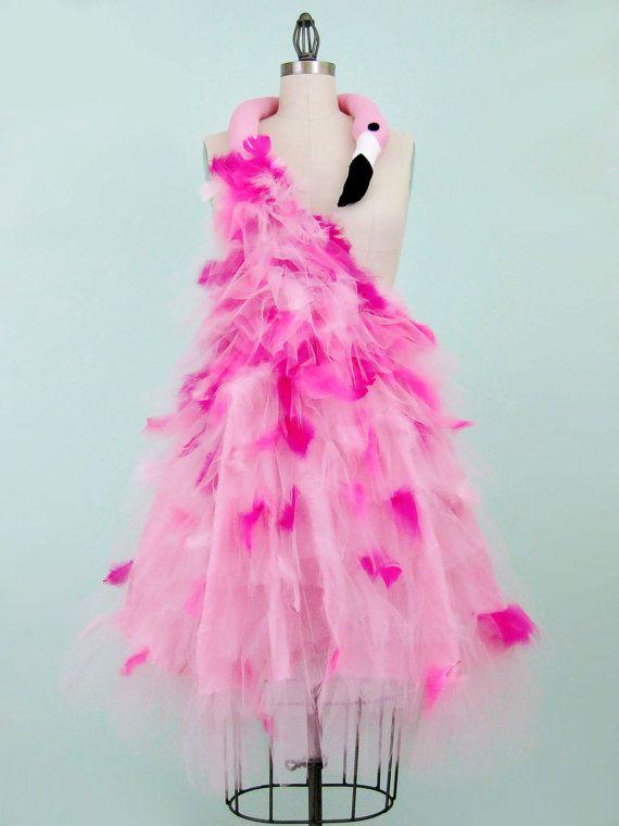 Pink Flamingo Costume Avant Garde 50s Inspired Small