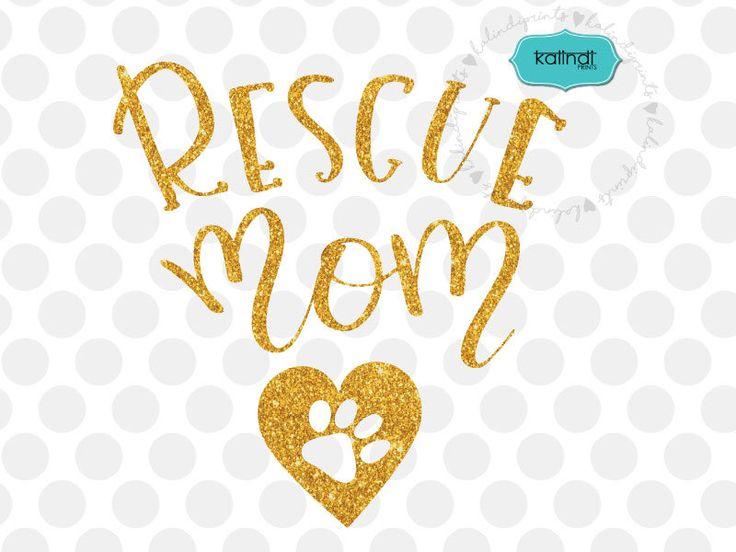 Download Rescue mom svg, Dog lover svg, hand-lettered, dog svg, pet ...