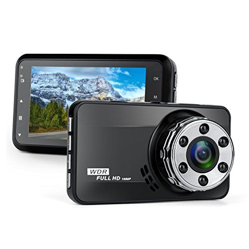 Dash Cam,Bekhic Dash Camera for Cars with Full HD 1080P 170 Degree Super Wide Angle Cameras, 3.0″ TFT Display, G-Sensor, Night Vision, WDR, Loop Recording