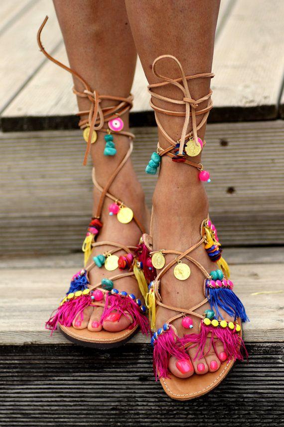 """Sandals """"Tahiti"""" (handmade to order)"""