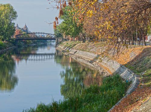 Herbst, Eisenbrücke, Temeswar
