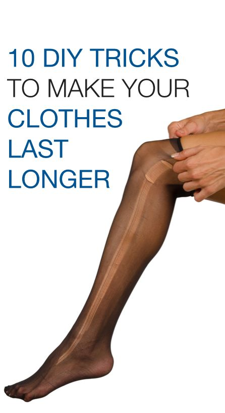 DIY tips for fixing common clothing problems (runs in tights, shedding sweaters, stains, etc.) & making your wardrobe last longer
