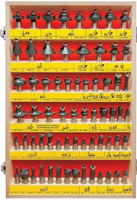 MLCS Woodworking 66 Piece Router Bit Set