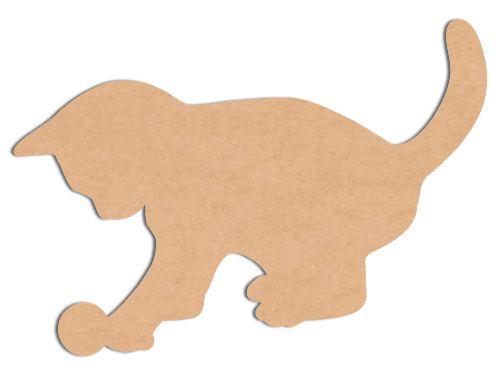 Chat silhouettes en bois animaux chaton et balle gabarits silhouettes masques patrons - Modele sculpture sur bois gratuit ...