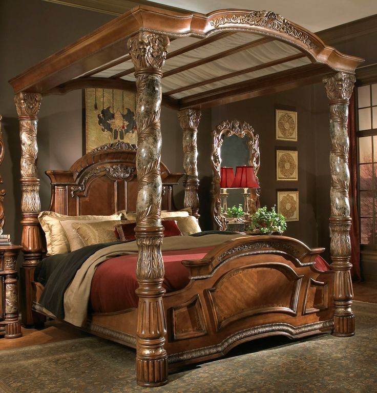 Michael Amini Aico bedroom.... I've got a Michael Amini Aico bed, but its not quite like this one, amazing!