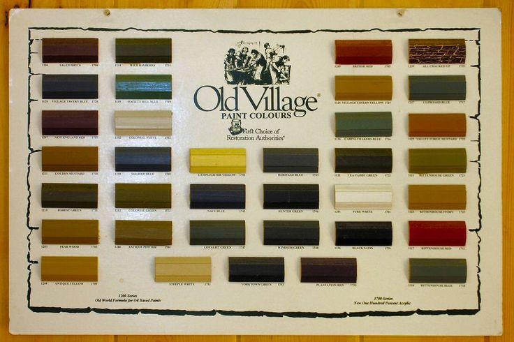 Primitive Color Chart, Old Village paints | Home Sweet Home | Pinterest | Primitive  colors