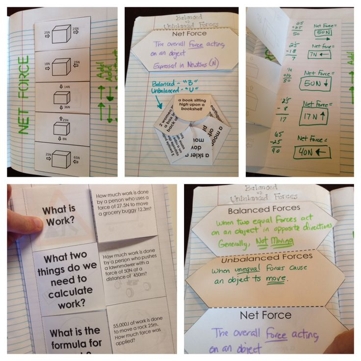 Force and Motion Interactive Notebook (INB) Pages - Mad Science Lessons