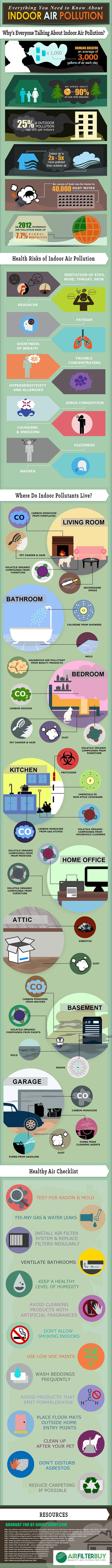 INFOGRAPHIC: The dangers of indoor pollution and how to deal with it