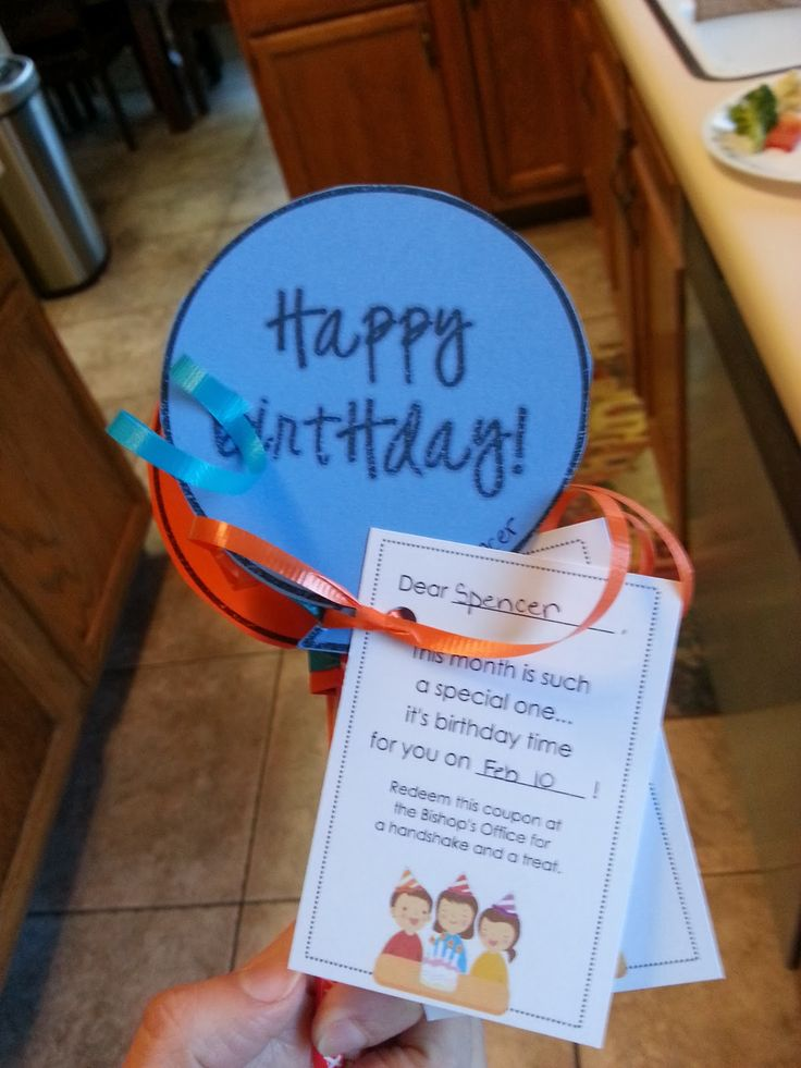A cute and easy way to celebrate primary birthdays (or classroom birthdays).