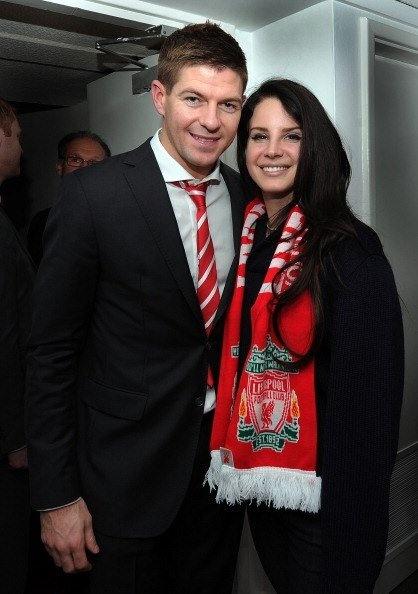 Steven Gerrard and #LFC supporter Lana Del Rey