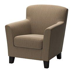 IKEA - EKENÄS, Chair, Hensta light brown, , The high back provides good support for your neck and head.Durable cover of chenille quality with a slight sheen and a soft feel.10-year limited warrranty. Read about the terms in the limited warranty brochure.