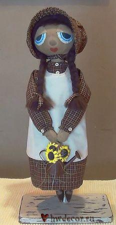 Лучшая ткань для одежды примитивной куклы - homespun Fabric