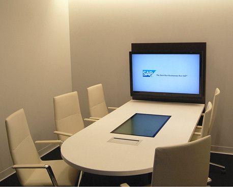 AGATI Furniture   Elements Media Center Collaboration Station