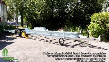 Remorque mini maison en aluminium