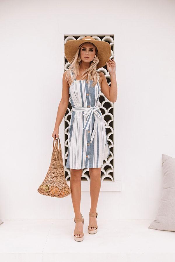 bd64b50ec57ca Cayman Island Crush Stripe Dress | Clothes in 2019 | Striped dress ...