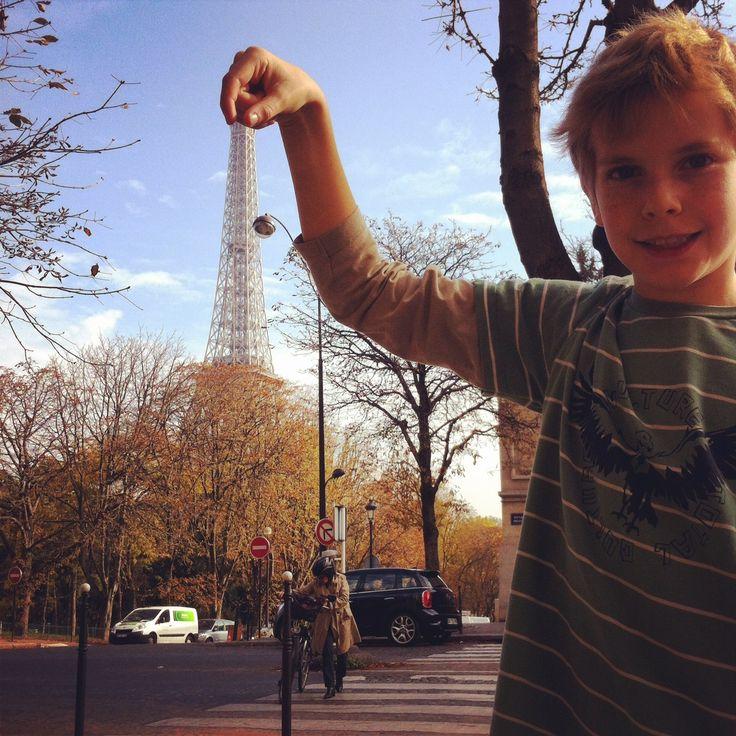 pinching the Eiffel Tower