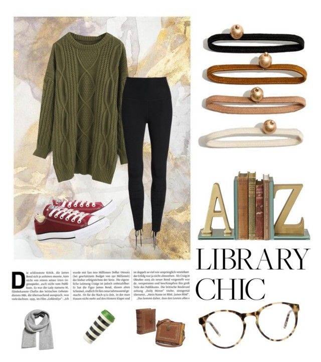 """Library Chic"" by jessicaadawn on Polyvore featuring Chicwish, Beyond Yoga, Converse, Love, Madewell, Kate Spade, MANGO, WhatToWear, WardrobeStaples and aesthetic"