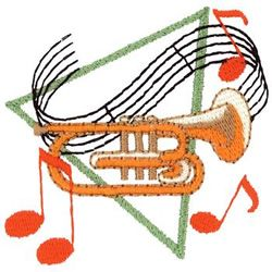 Mellophone Embroidery Design