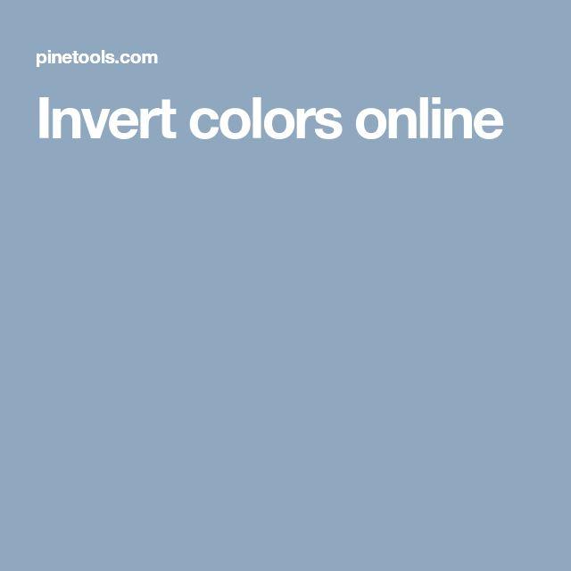 Invert colors online