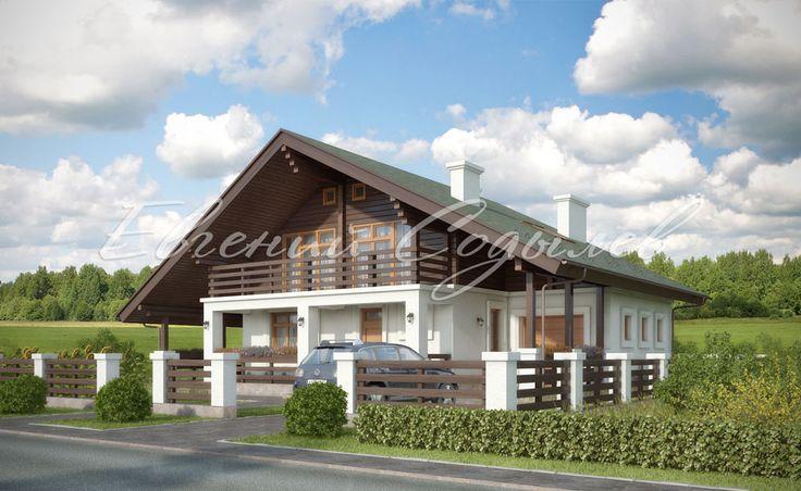 Проект дома в стиле Шале из газобетонных блоков К-2/14 фото-1 | Мастерская Евгения Содылева