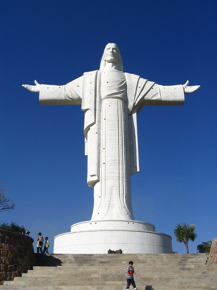 Cristo de la Concordancia, located atop the San Padro Hill, is a statue of Jesus Christ which is 112.2 feet tall. It is the largest statue of Jesus Christ in the world. Construction began in 1987 and ended in 1997.