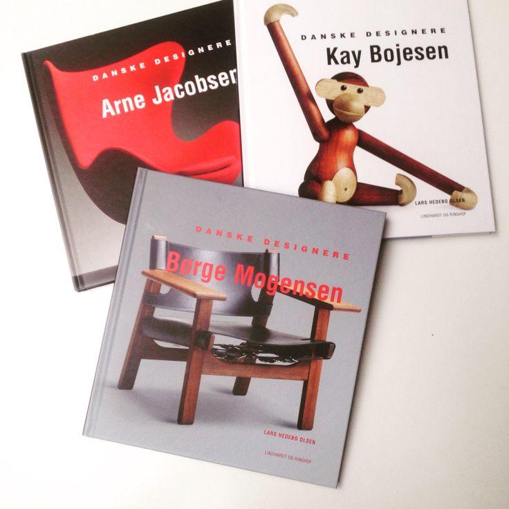 Danish design books, Arne Jacobsen, Bøge Mogensen, Kay Bojesen.
