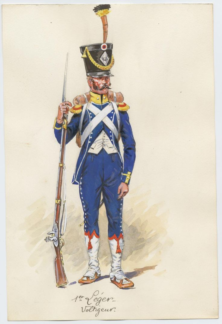 French; 1st Light Infantry Voltigeur in Spain by P.A.Leroux