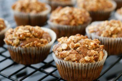 Banana Nutella Muffins with Streusel Topping