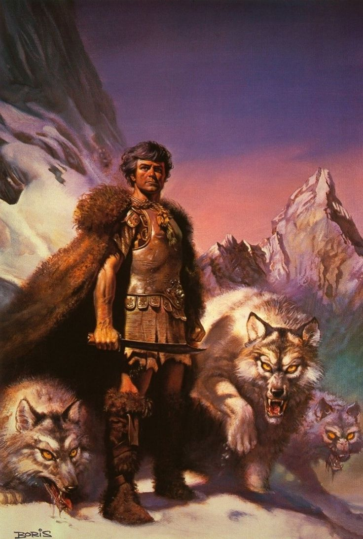 Boris Vallejo- Lord of the Wolves