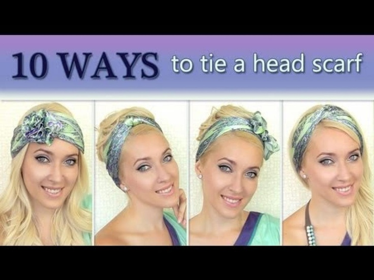 10 different ways to wear 1 scarf on your head How to tie a headscarf …