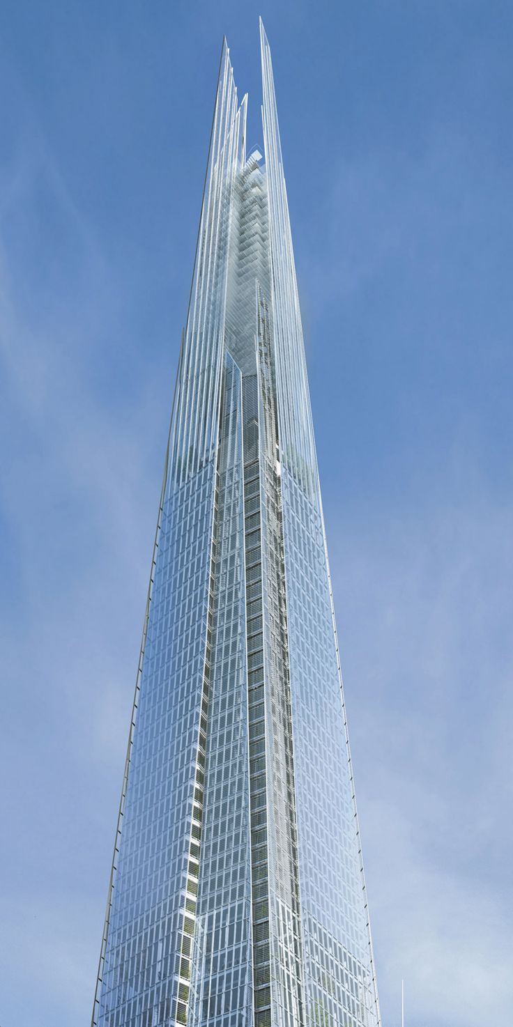 "Facade of the ""Shard"" Tower in London, designed by Renzo Piano, image by Sellar"