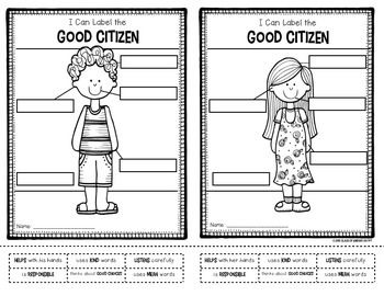 FREEBIE! Label Good Citizens: Kindergarten &... by Class of Kinders | Teachers Pay Teachers