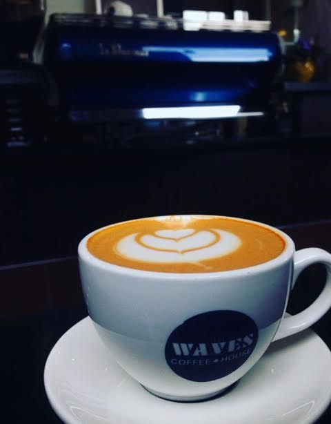 Proud to see our red drinks at Waves Coffee House in Canada! redespresso redcappuccino rooiboscappuccino rooibos cappuccino #myredespresso