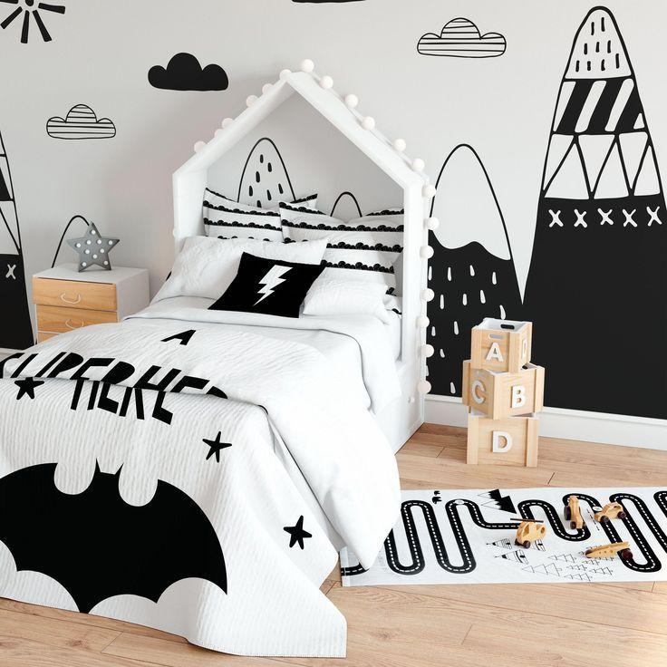 Superhero Bedding Decor For Boys Kids Room Decorative Duvet Etsy In 2020 Kids Bedroom Decor Scandinavian Kids Rooms Kid Room Decor
