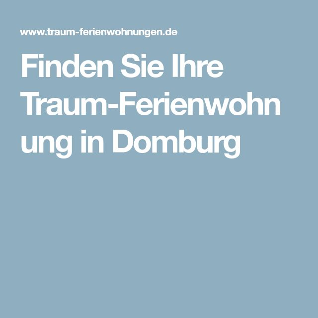 Finden Sie Ihre Traum-Ferienwohnung in Domburg