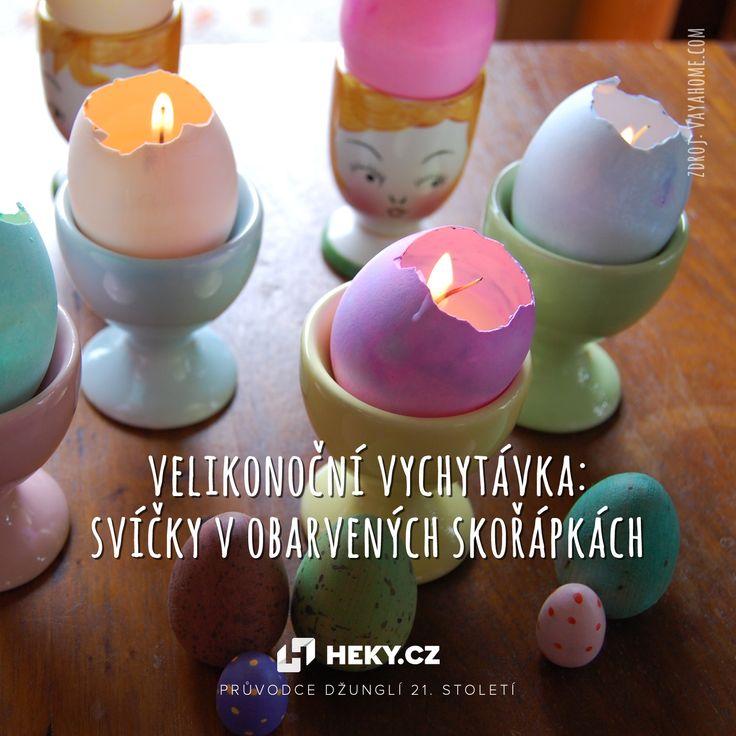 Veselé DIY velikonoční svíčky v obarvených skořápkách vyrobíte rychle a snadno