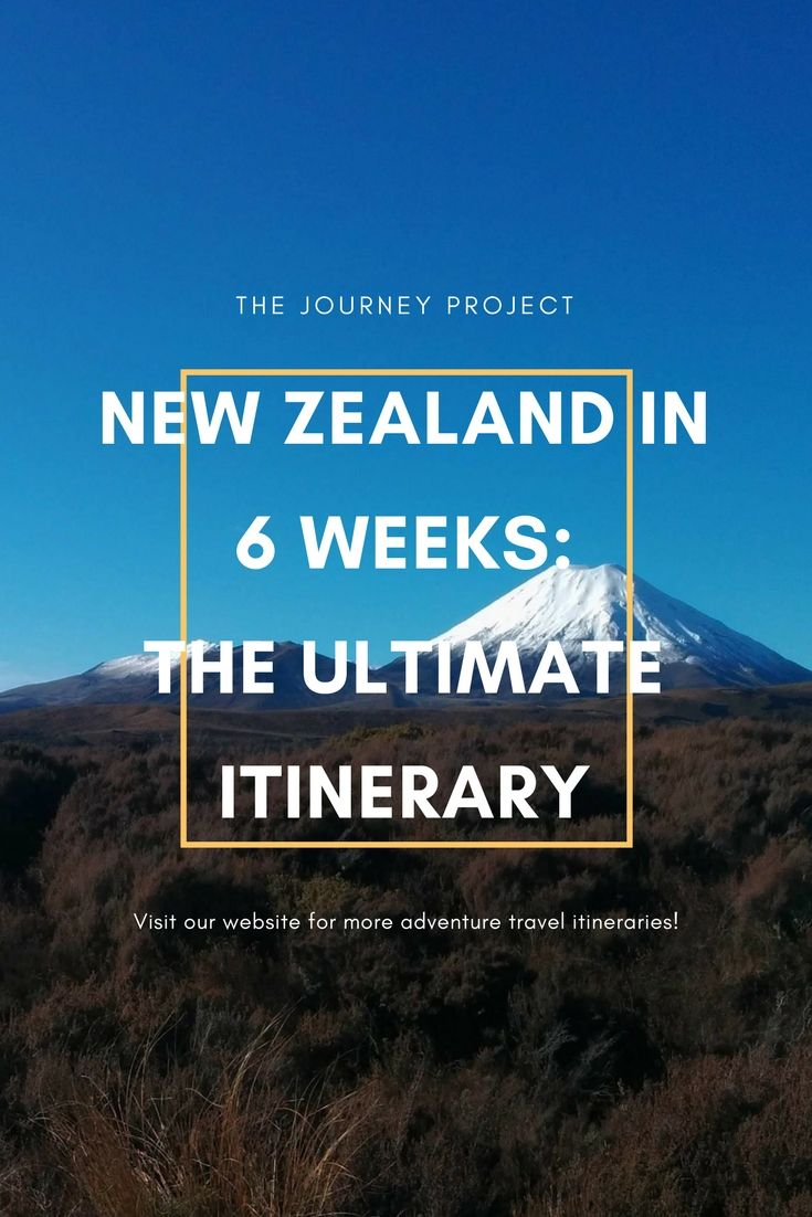 New Zealand in 6 Weeks: The Ultimate Itinerary | Spend six weeks travelling the North and South Islands of New Zealand using this ultimate itinerary. Don't miss out on a single New Zealand experience!